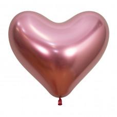 Сердце Рефлекс, Розовый, (Зеркальные шары) / Reflex Pink