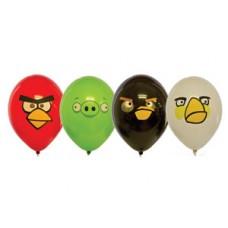 "Энгри Бердс / Angry Birds  Шар с рисунком 14""4цв"