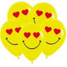 Смайл влюбленный, Желтый Пастель, 2 ст., 2 цв. Sempertex