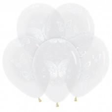 Бабочки (3 дизайна), Прозрачный Кристал