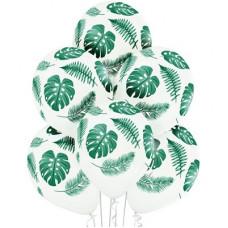 """Листья тропические Шар 14"""" с рисунком"""
