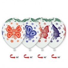 Бабочки / Шары с многоцветным рисунком 5цв