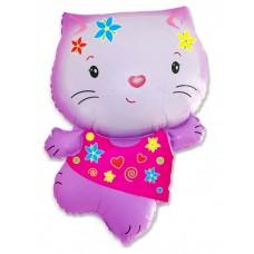 Котёнок (розовый с цветами) / A little Cat