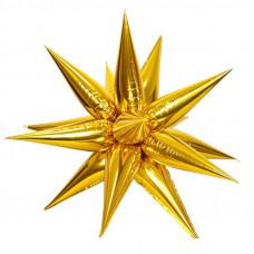Звезда составная 12 лучиков Золото в упаковке / Gold