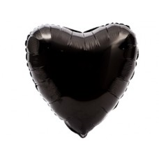 """Сердце 18"""" Пастель Black"""