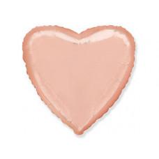 Шар Сердце Металлик Розовое золото / Rose Gold