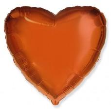 Сердце Оранжевый / Heart Orange Flex Metal