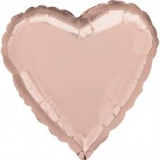 Сердце Роза Голд в упаковке / Rose Gold