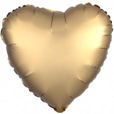 Сердце Золото Сатин Люкс в упаковке / Satin Luxe Gold
