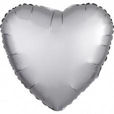 Сердце Платина Сатин Люкс в упаковке / Satin Luxe Platinum