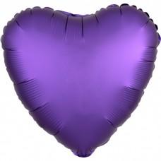 Сердце Фиолетовый Сатин Люкс в упаковке / Satin Luxe Purple Royale