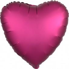 Сердце Гранат Сатин Люкс в упаковке / Satin Luxe Pomegranate