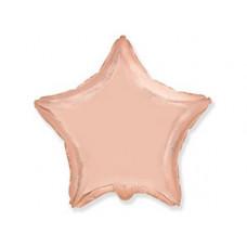 Шар Звезда Металлик Розовое золото / Rose Gold (в упаковке)