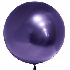Сфера 3D Хром Фиолетовый в упаковке
