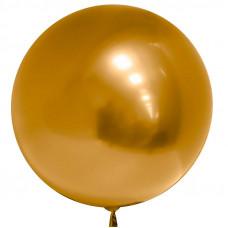 Сфера 3D Хром Золото в упаковке