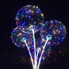 Bubble с подсветкой прозрачный на палочке без батареек