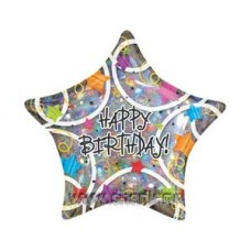 "Звезды разноцветные ""Happy Birthday"""