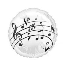 Музыкальные ноты на белом фоне
