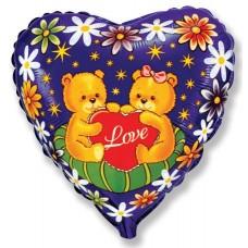 Медведи на подушке Влюблённые / Love bear pillow