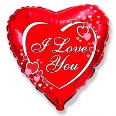 Я тебя люблю сердца рядом с надписью / Love hearts