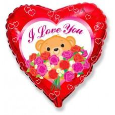 Мишка с розами / Bear roses