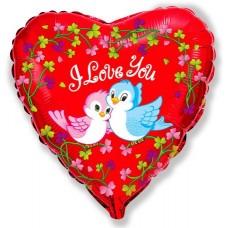 Птички Я тебя люблю Сердце