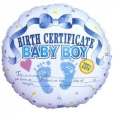 Сертификат о рождении мальчика