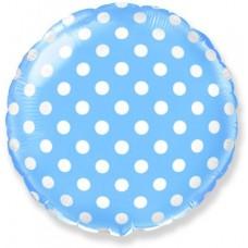 Горох Шар (Голубой) / Dots Blue Flex Metal