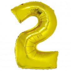 """Цифра """"2"""" золото в упаковке / Two"""