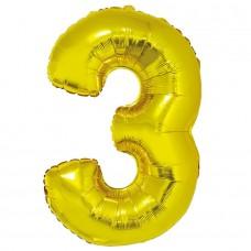 """Цифра """"3"""" золото в упаковке / Three"""