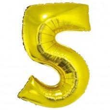 """Цифра """"5"""" золото в упаковке / Five"""