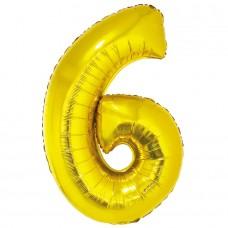 """Цифра """"6"""" золото в упаковке / Six"""