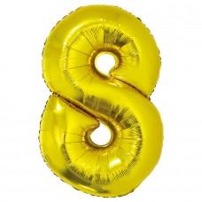 """Цифра """"8"""" золото в упаковке / Eight"""