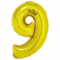 """Цифра """"9"""" золото в упаковке / Nine"""