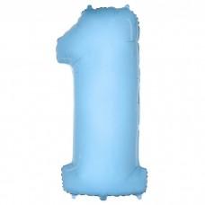"F ""1"" Цифра Светло-Голубой"