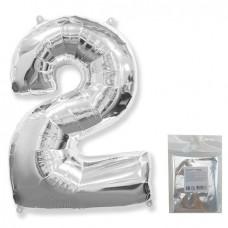 """F """"2"""" Цифра серебро / One (в упаковке)"""