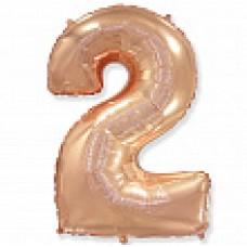 """Цифра """"2"""" розовое золото / Two"""