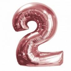 "K ""2"" Цифра Розовое Золото / Two Pink gold"