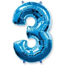 """F """"3"""" Цифра синий / Three"""