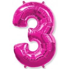 """F """"3"""" Цифра фуксия / Three"""