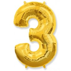 "K ""3"" Цифра золото / Three"
