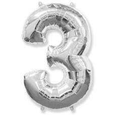 "F ""3"" Цифра серебро / Three Series"