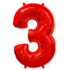 """Цифра """"3"""" красный / Three"""