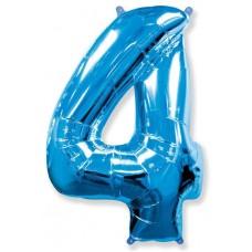 "F ""4"" Цифра синий / Four"