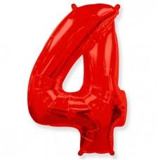 "Цифра ""4"" красный / Four"
