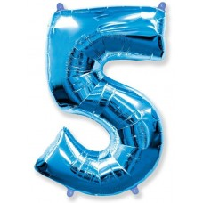 "F ""5"" Цифра синий / Five"