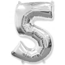 "F ""5"" Цифра серебро / Five"