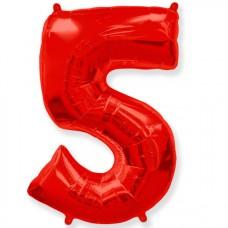 """Цифра """"5"""" красный / Five"""