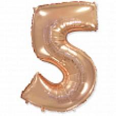 """Цифра """"5"""" розовое золото / Five"""