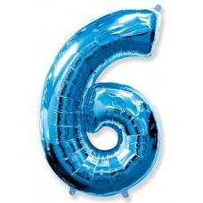 """F """"6"""" Цифра синий / Six"""